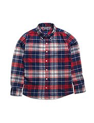 TOMMY CHECK SHIRT L/S - BLUE