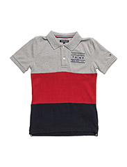 AME COLORBLOCK POLO S/S - GREY