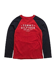 AME COLORBLOCK CN TEE L/S - RED