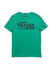 AME HILFIGER CN TEE S/S - GREEN