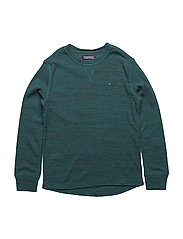 AME INJECTED WAFFLE CN TEE L/S - PACIFIC