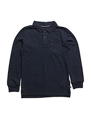AME GMD POCKET POLO L/S - BLUE