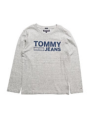 AME LOGO CN TEE L/S, - NEW GREY HEATHER B1NAC04 VOL.