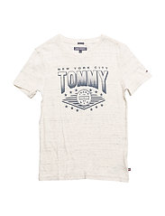 AME TOMMY CN TEE S/S - WHITE GREY HEATHER B1D203 VOL.