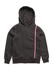 AME TOMMY HOODED ZIP - ANTHRACITE MELANGE