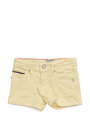 NAOMI DENIM SHORT VCD - YELLOW