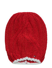 SOLID LONG BEANIE - RED