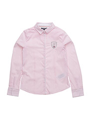 AME STRIPE GIRLS SHIRT L/S - PINK