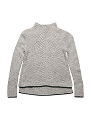 AME CABLE SWEATER - GREY