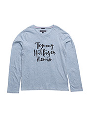 AME GIRLS TH CN KNIT L/S - BLUE