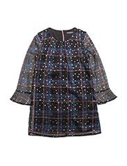 H STAR CHECK DRESS L - PEACOAT