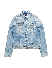 GIRLS DENIM TRUCKER, - CALI LIGHT POWER STRETCH