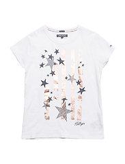BRIGHT STARS TEE S/S - BRIGHT WHITE