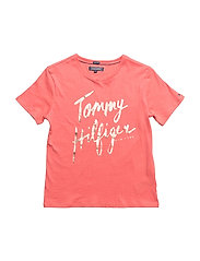 AME HILFIGER TEE S/S - SPICED CORAL
