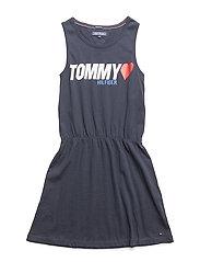 PEPPY KNIT DRESS SLV - BLACK IRIS
