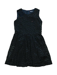 DEVORE DOT MINI DRESS - BLACK