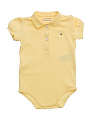 BABY BASIC POLO BODY S/S - YELLOW