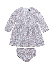 FLOWER BABY DRESS L/S - WHITE