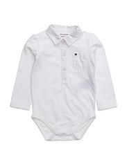COMBI BABY BOY BODY L/S - WHITE
