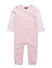 HILFIGER BABY COVERALL L/S - PINK