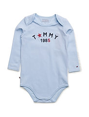 TOMMY BABY BODY L/S - BLUE