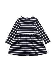 BIG STRIPE BABY DRESS L/S - BLUE
