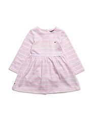 BIG STRIPE BABY DRESS L/S - PINK
