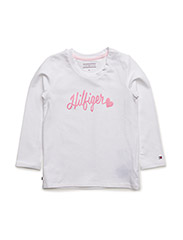 HILFIGER BABY GIRL CN KNIT L/S - WHITE