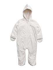 FLUFFY BABY OUTDOOR COVERALL L/S - WHITE
