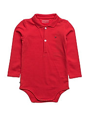 BABY POLO BODY L/S - RED