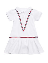 SWEET POLO BABY DRES - BRIGHT WHITE