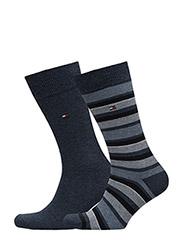 TH MEN VARIATION STRIPE SOCK 2P - jeans