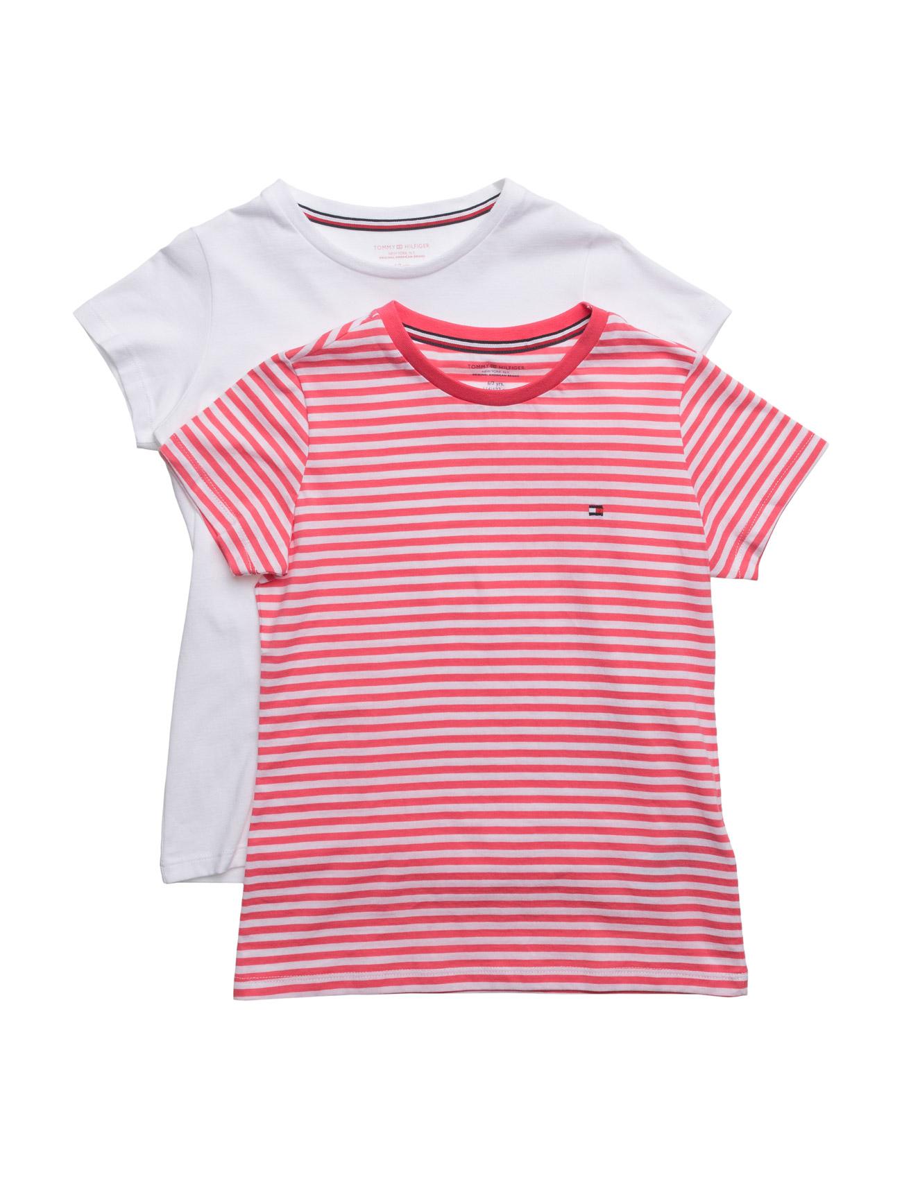 2p Cn Tee Ss Stripe Tommy Hilfiger Nat & Undertøj til Piger i