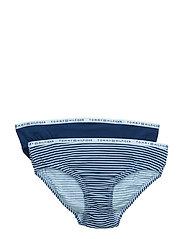 Logo Bikini 2 pack stripe - BLUE