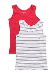 2P CAMI TOP STRIPE - RED