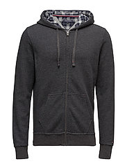 ZIP THRU HOODY - GREY