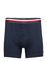 BUTTON FLY BOXER BRIEF - BLUE
