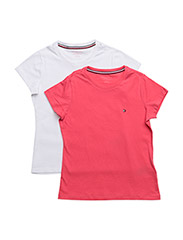 2P CN TEE SS - WHITE/ ROUGE RED