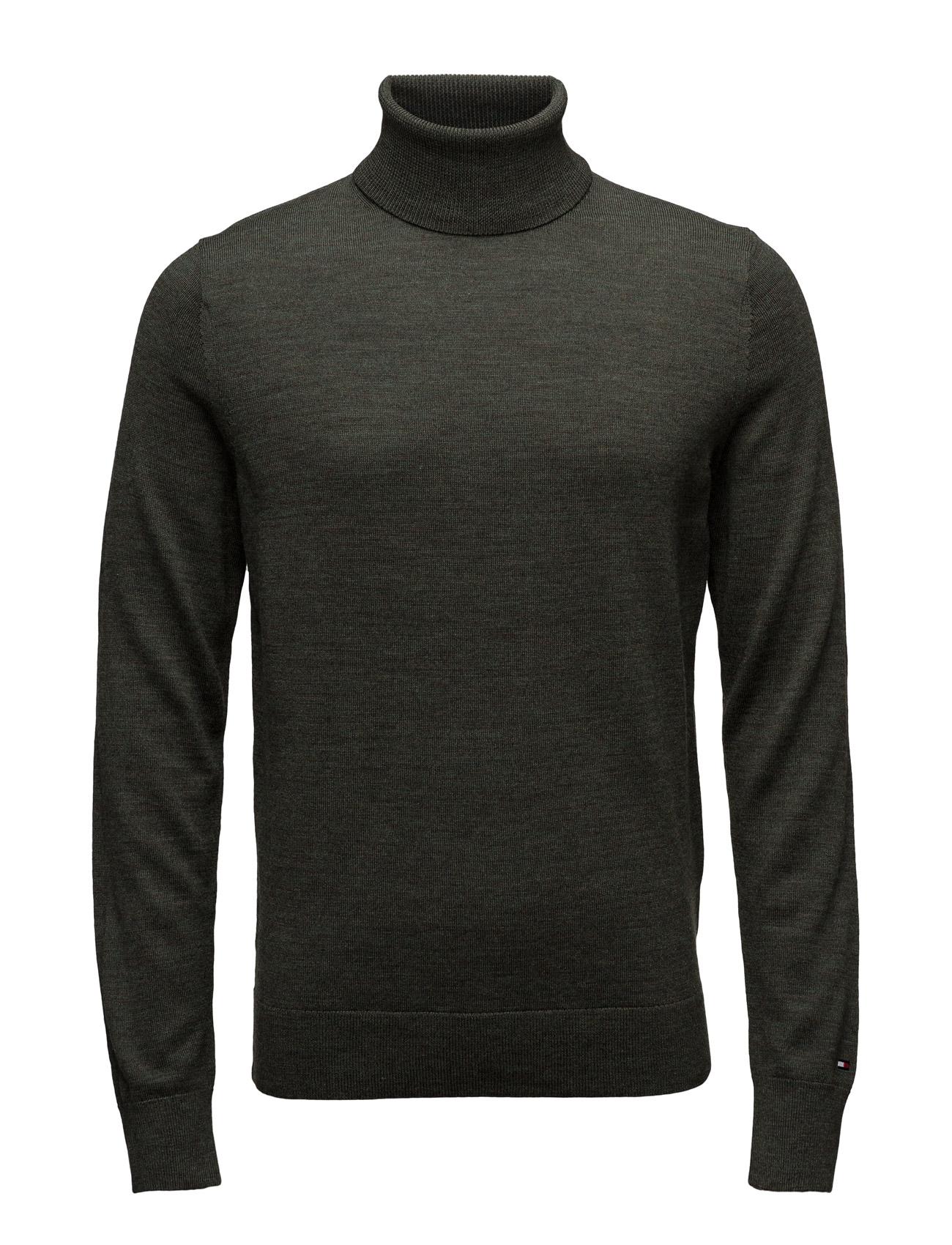 Premium Wool R-Nk Cf Tommy Hilfiger Højhalsede til Mænd i Grøn
