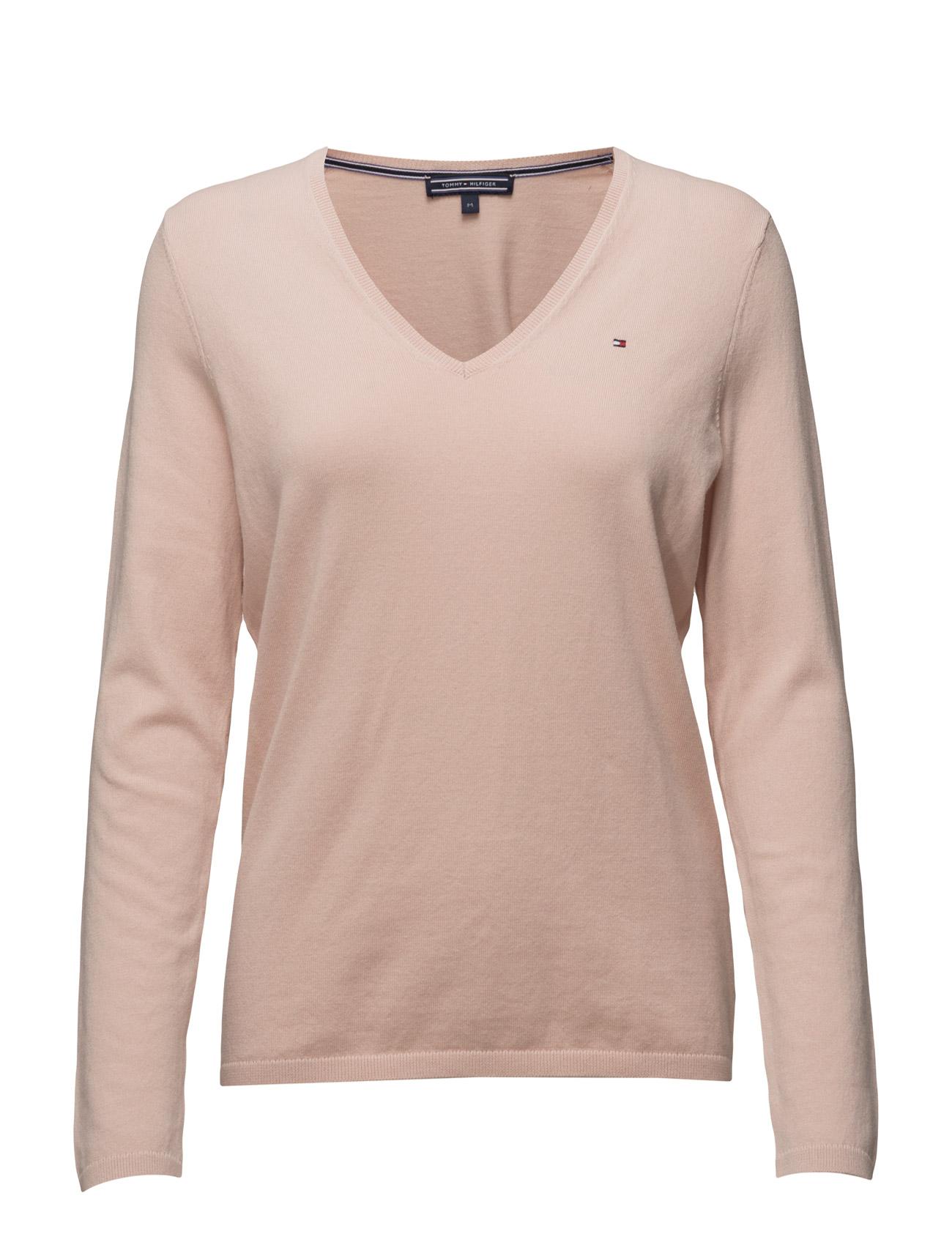 New Ivy V-Nk Swtr Tommy Hilfiger Sweatshirts til Kvinder i Lyserød