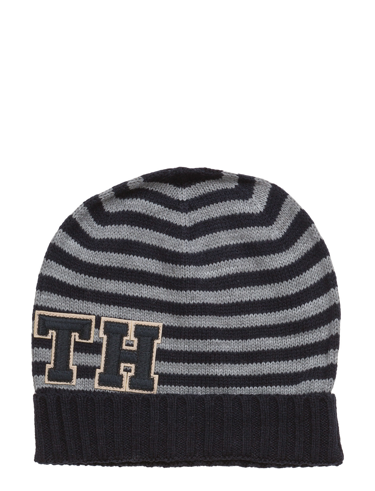 Th Patch Hat Stripes Tommy Hilfiger Accessories til Kvinder i Blå