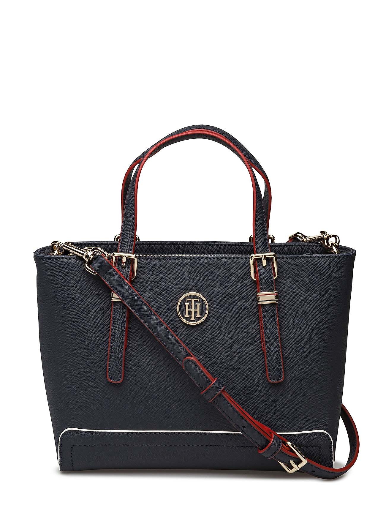 Tommy Hilfiger Laukut Miehet : Honey small tote tommy navy edge paint