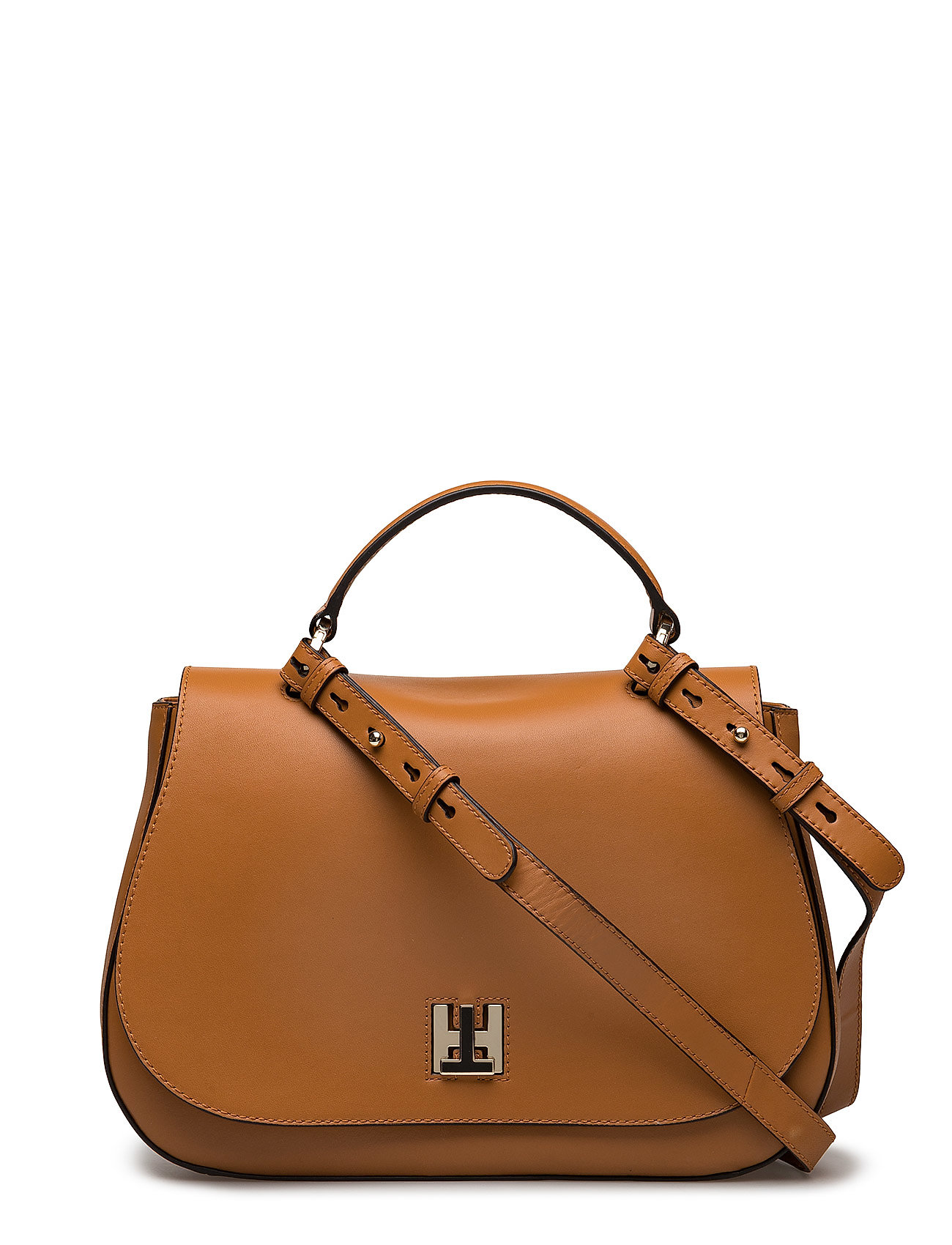 Tommy Hilfiger Laukut Miehet : Th twist leather med cognac tommy hilfiger