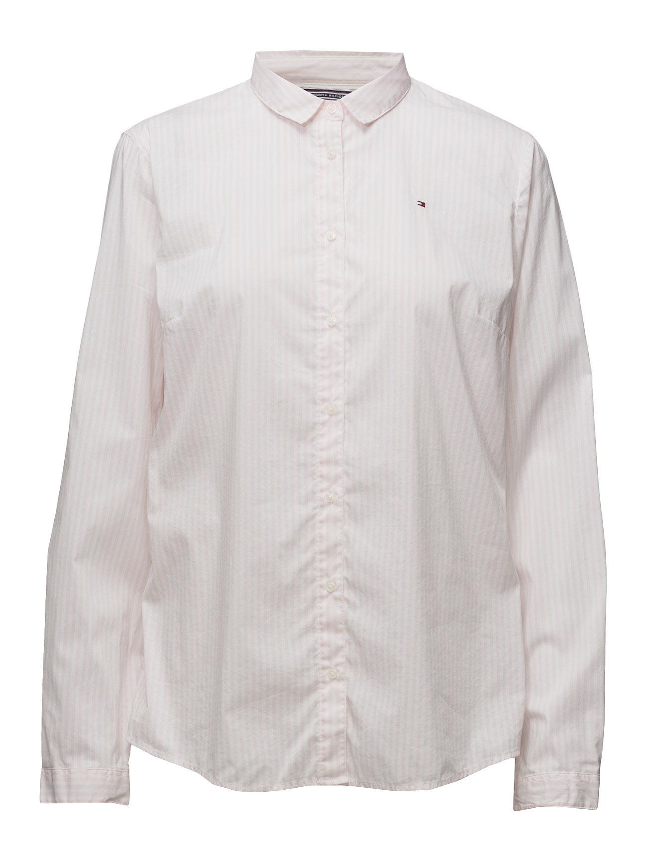 Sp Duda Str Mix Shirt Ls W2 Tommy Hilfiger Trøjer til Kvinder i Lyserød