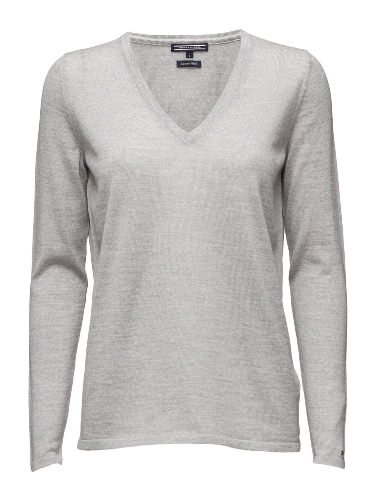 New Guvera V-Nk Swtr Tommy Hilfiger Sweatshirts til Kvinder i Sort