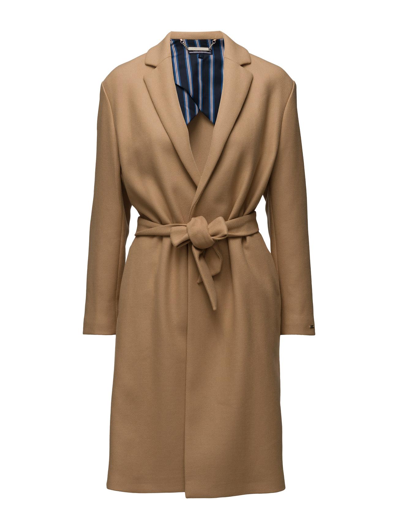 Nea Wool Coat Tommy Hilfiger Frakker til Kvinder i Blå