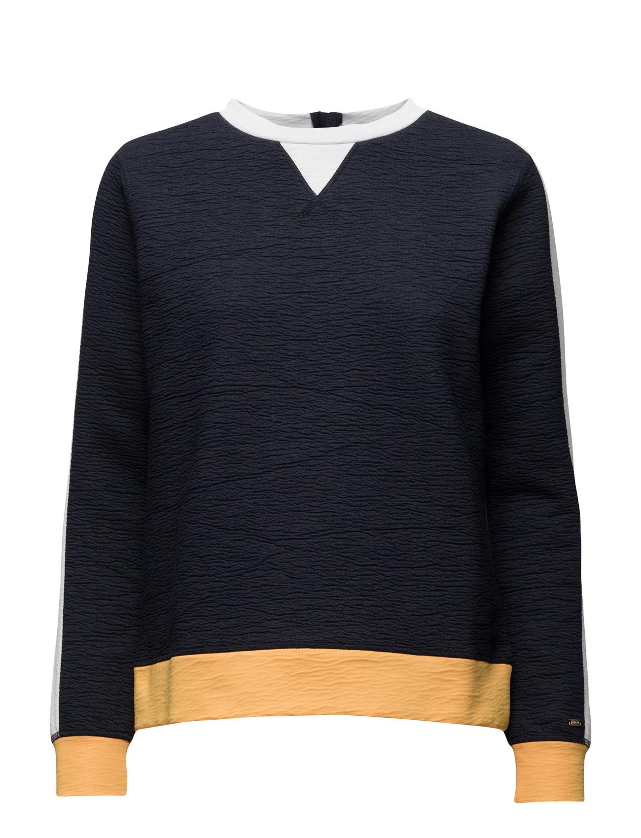 Feliks Colorblock Sweatshirt Ls Tommy Hilfiger  til Kvinder i Blå