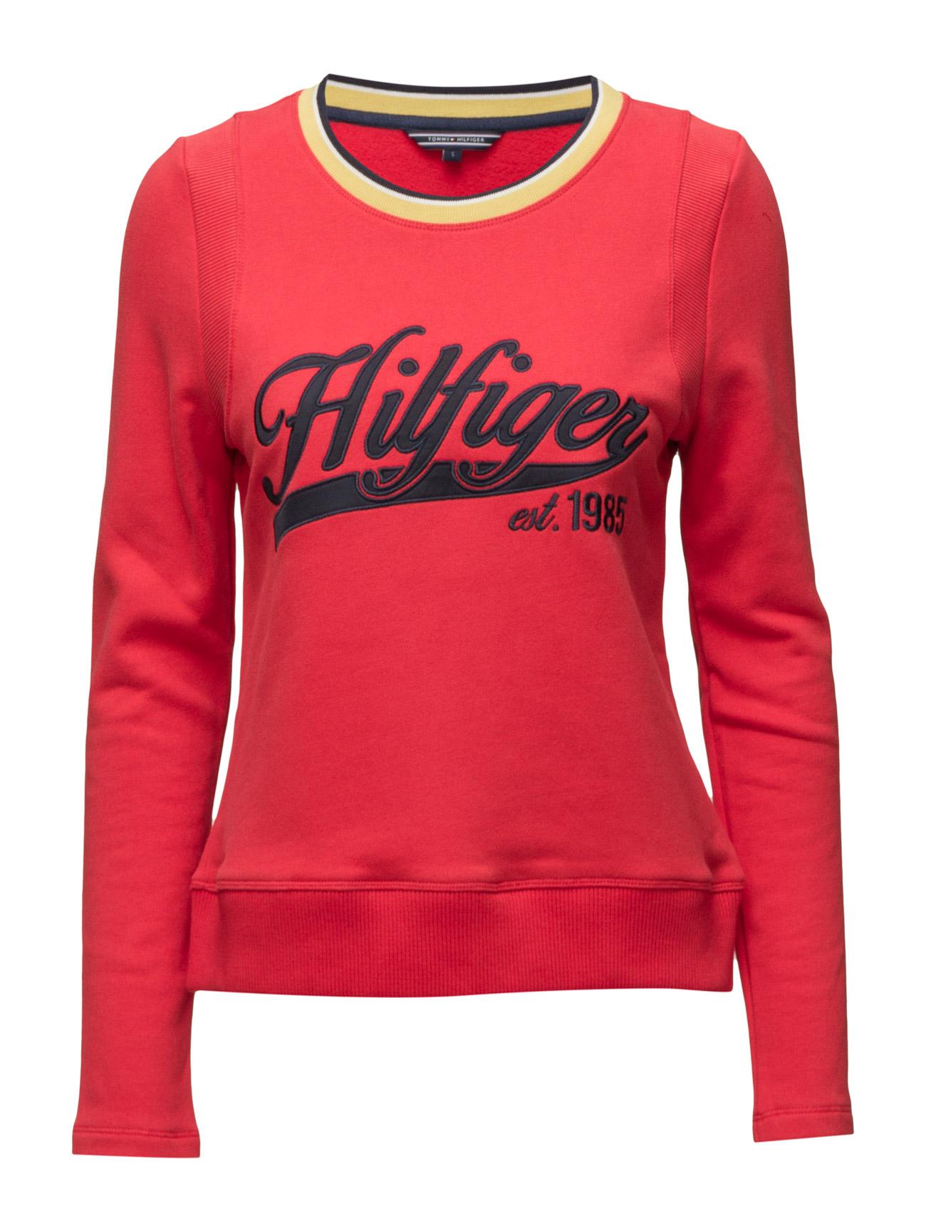 Odra Graphic Sweatshirt Ls Tommy Hilfiger  til Kvinder i Rød