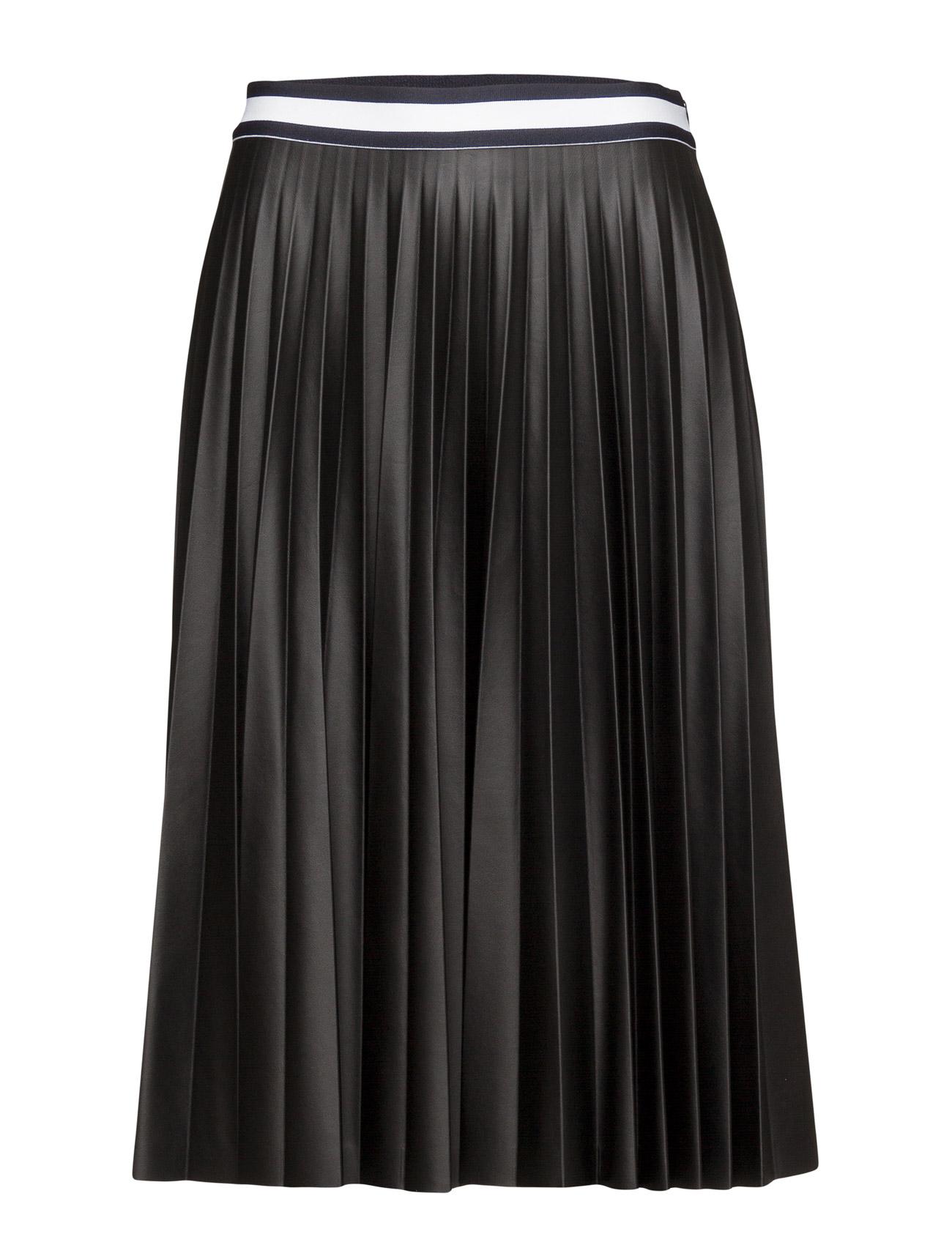 Giuliana Pleated Skirt Tommy Hilfiger Knælange & mellemlange til Kvinder i Sort