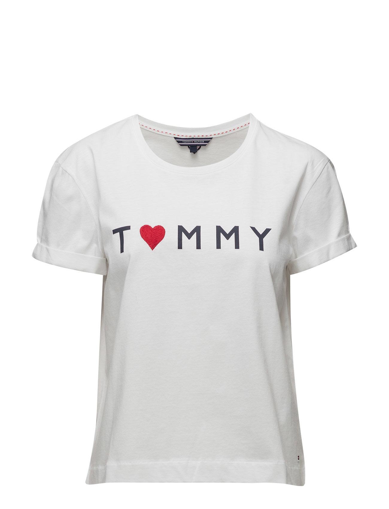 Tommy Logo Heart Tee Tommy Hilfiger Kort-Hylsa